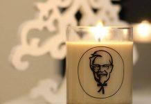 Bougie KFC senteur poulet frit