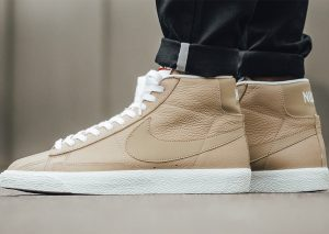 Nike Blazer Mid Premium 'Linen Summit White Gum Light Brown' 2017