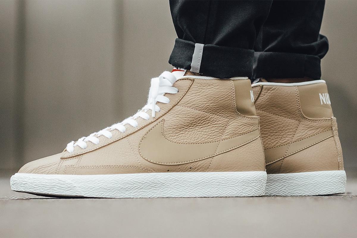 Nike Blazer Mid Premium (Linen Summit White Gum Light Brown)