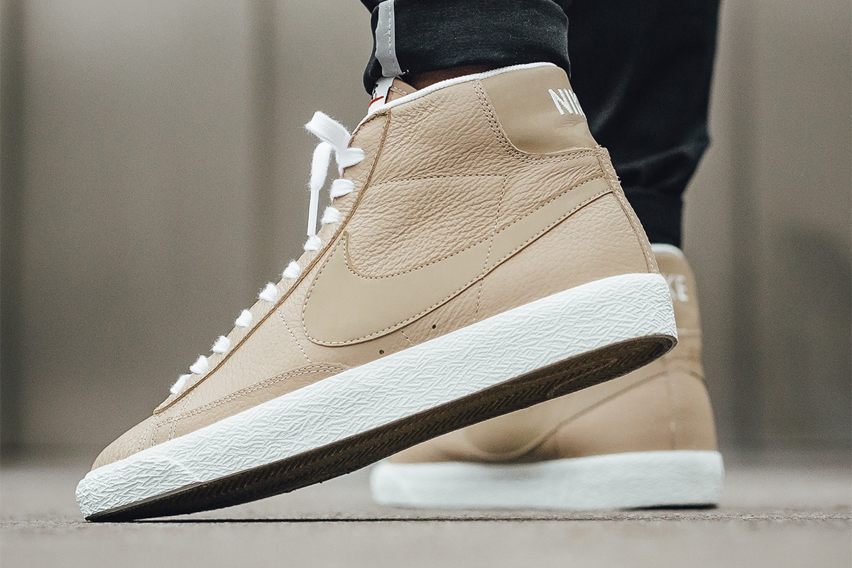 Nike Blazer Mid Premium (Linen Summit White Gum Light Brown)