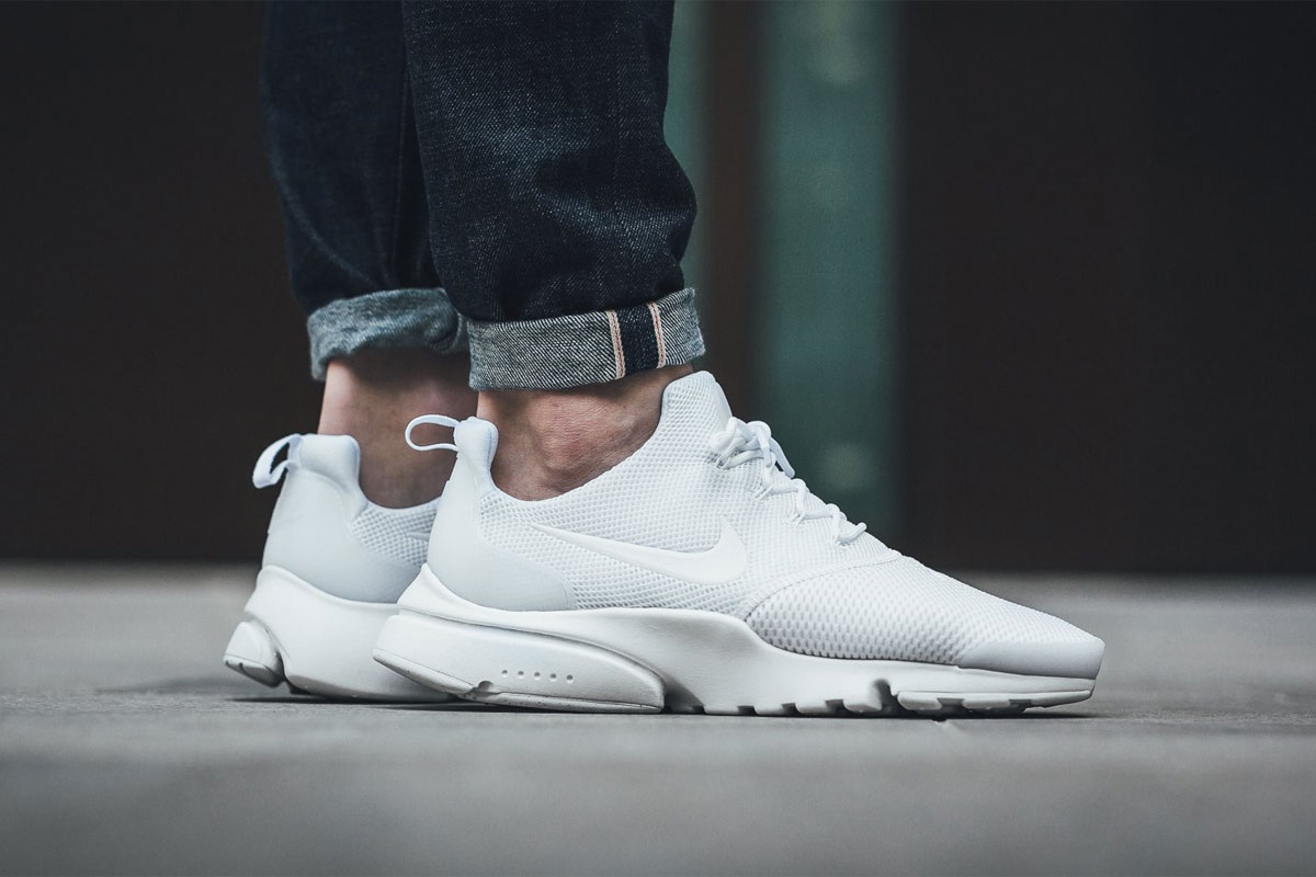 nike air presto fly blanche