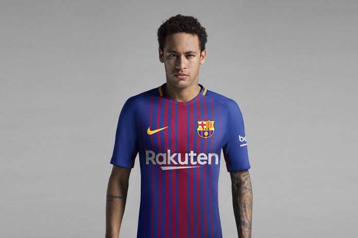 Maillot-Barcelone-2018-Rakuten-Neymar