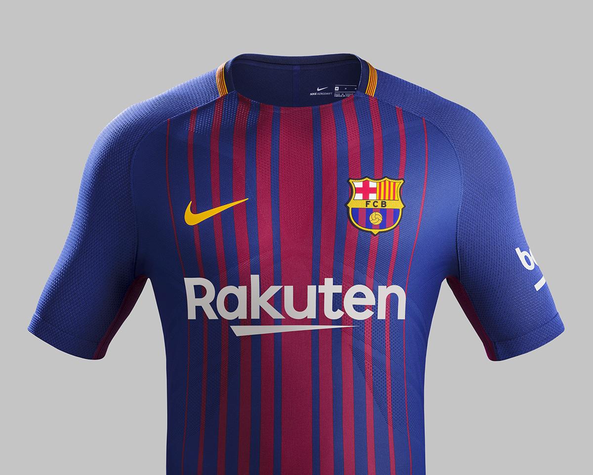 Tenue domicile Barcelone 2018 Rakuten